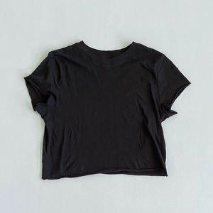 dark grey h&m crop t-shirt